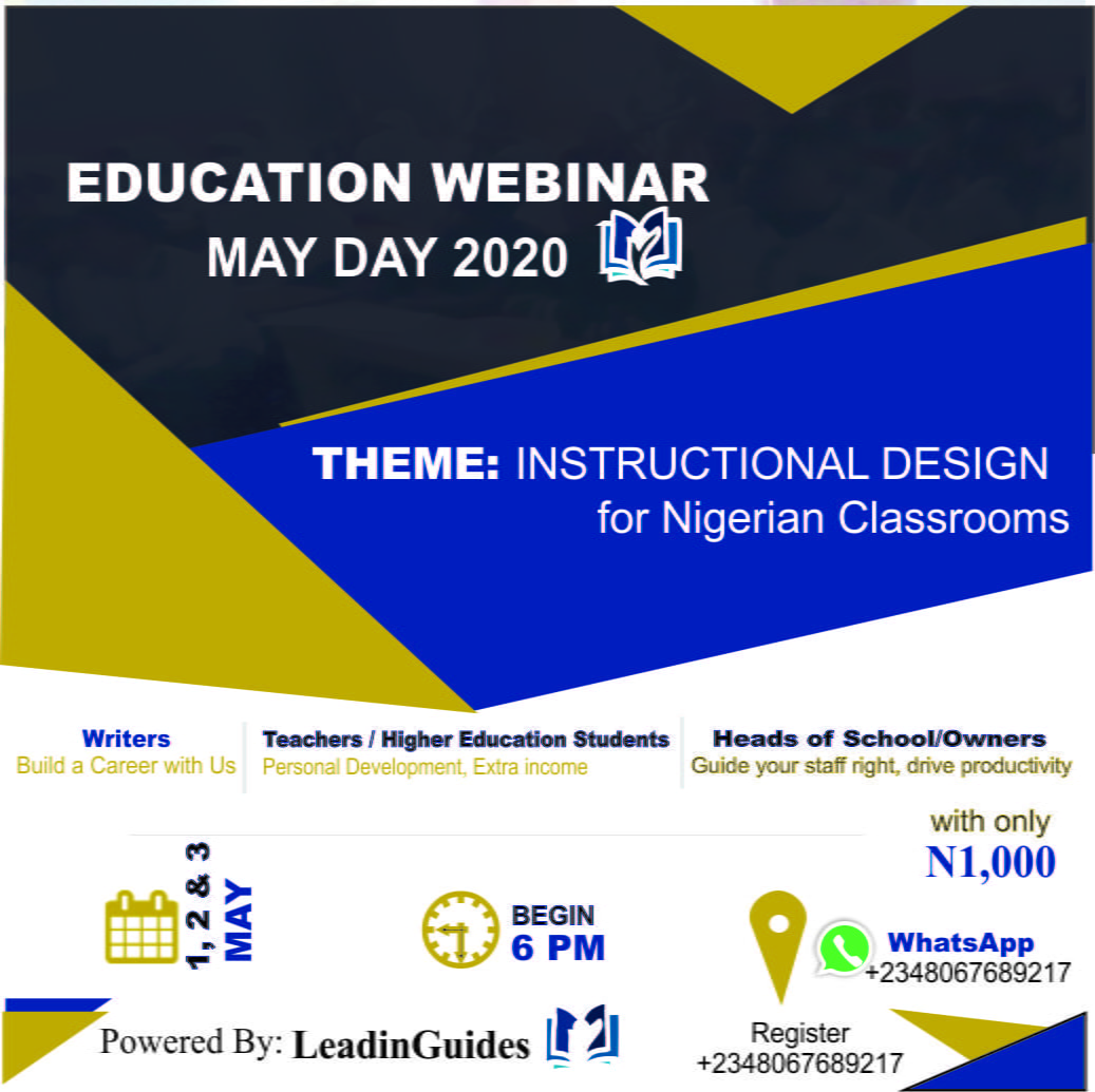 Instructional Design Nigerian Classrooms Webinar