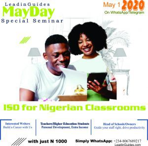Instructional Design - May Day 2020