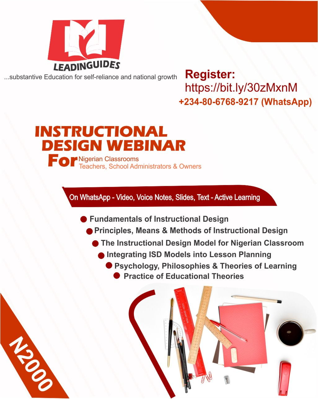 August Instructional Design Training